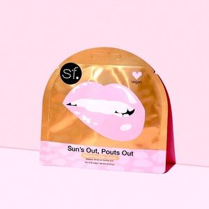 🆕 NEW Sun's Out Pout's Out Gold Foil Nourishing Pack of 4 Lip Masks